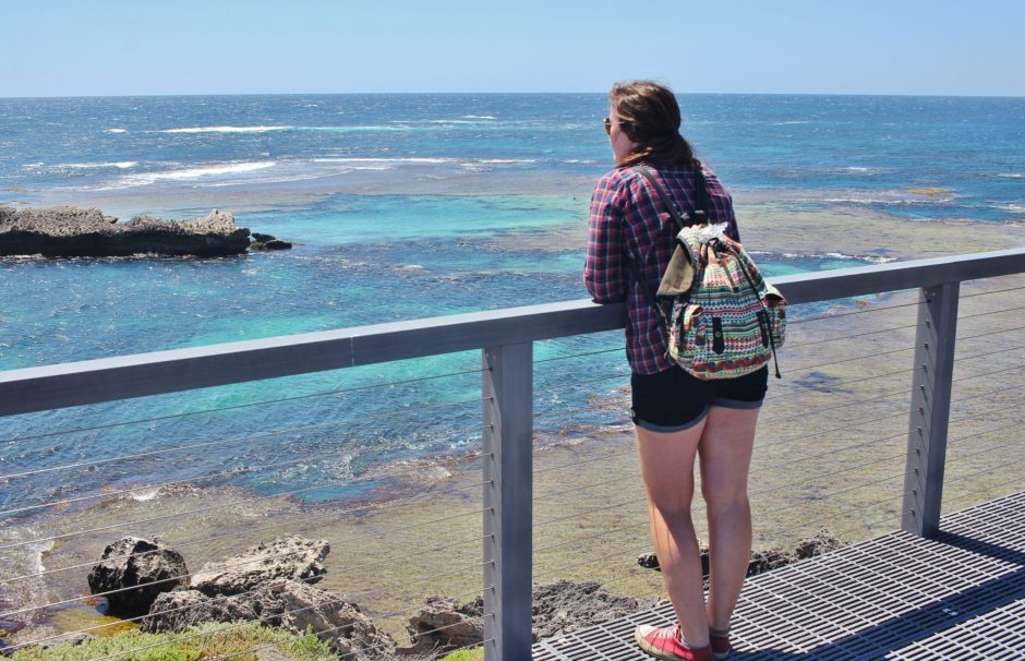 Looking out over the ocean on Rottnest Island, Australia