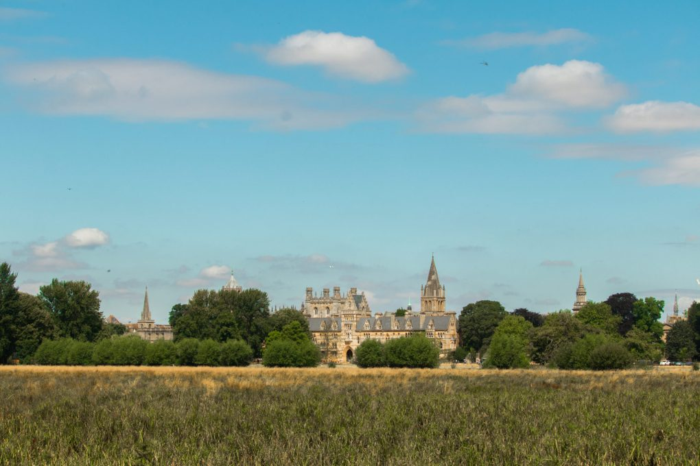 Christchurch as seen from the Meadow, Oxford, UK