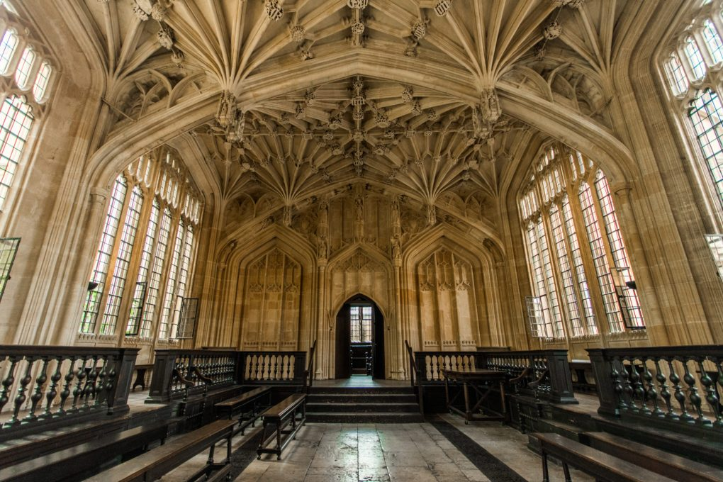 The Divinity Room in Oxford College, UK
