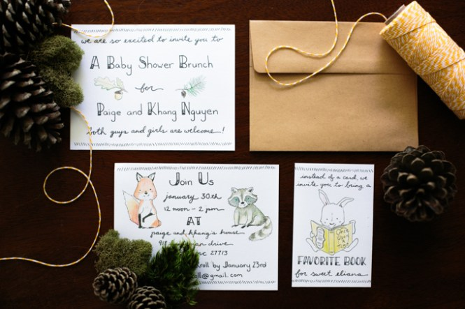 Diy Handlettered Woodland Themed Baby