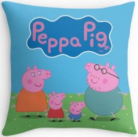 Peppa Pig Family Throw Pillow - THLOG