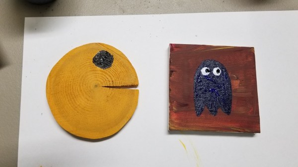 Two Pacman themed ceramics