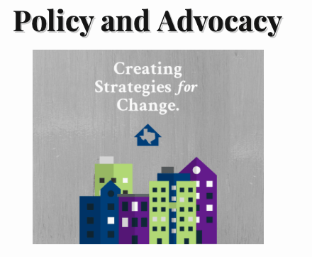 Policy and Advocacy Graphic