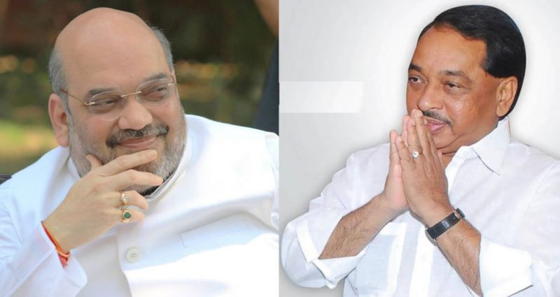 photo credirt- Amit Shah & Narayan Rane Facebook Account