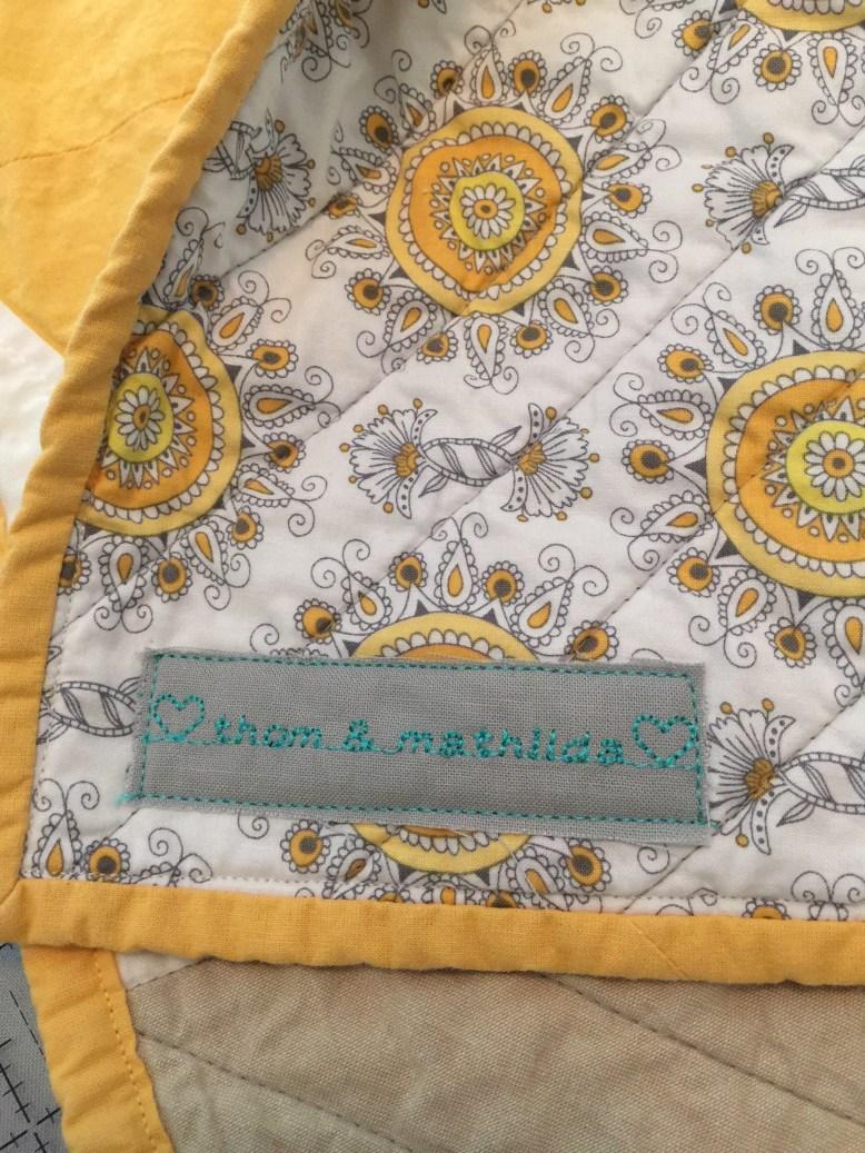 Custom Retro Modern Diamond Baby Quilt