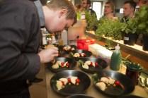 Angerichtete Teller im Herbal Workshop Hamburg