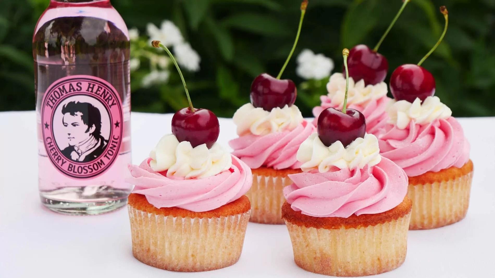 Cherry Blossom Tonic Cupcakes
