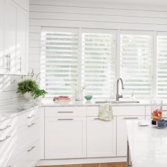 Kitchen Blinds 24 Sink Made To Measure With Thomas Sanderson Open White Silhouette Above