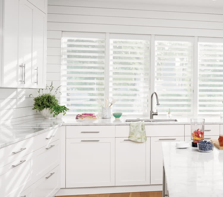 grey kitchen blinds design cheap made to measure with thomas sanderson open white silhouette above sink