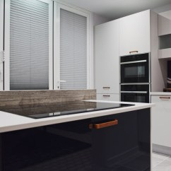 Grey Kitchen Blinds Aid Pro Made To Measure With Thomas Sanderson Fitted Doors