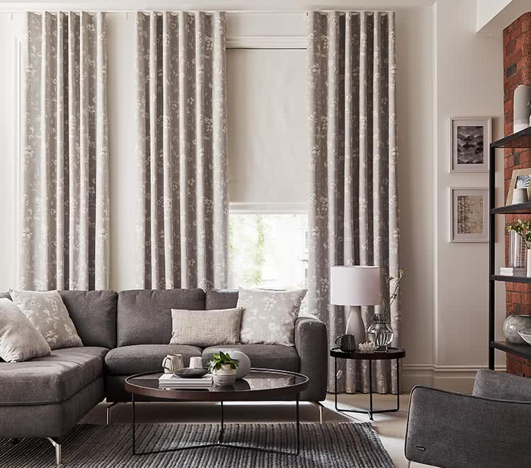 living room curtain pics how to make furniture lounge curtains blackout lined thomas sanderson grey patterned
