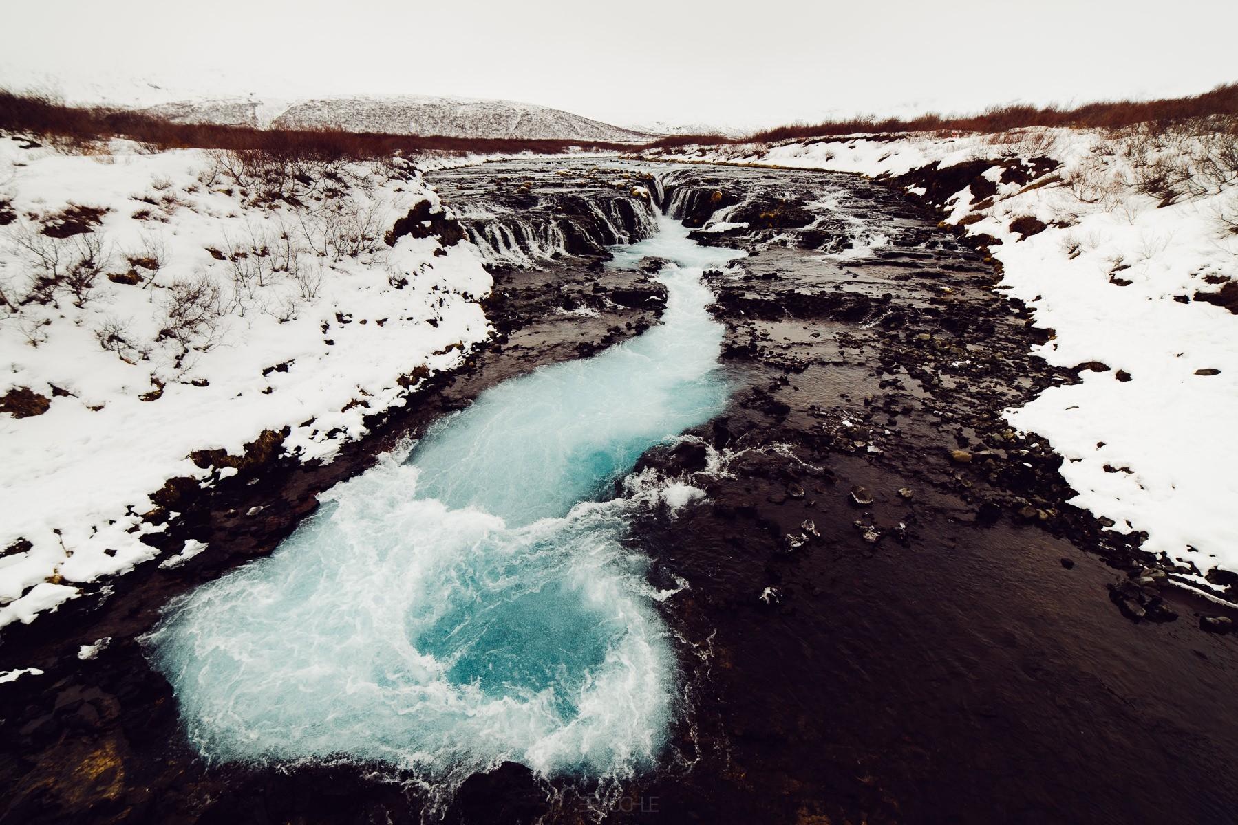 Island  Bruarfoss Wasserfall bei Geysir  Fotograf KonstanzBodensee