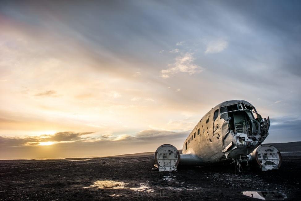 Island  Weg zurck nach Reykjavik inkl Flugzeugwrack und Vik