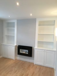 Alcove shelving white