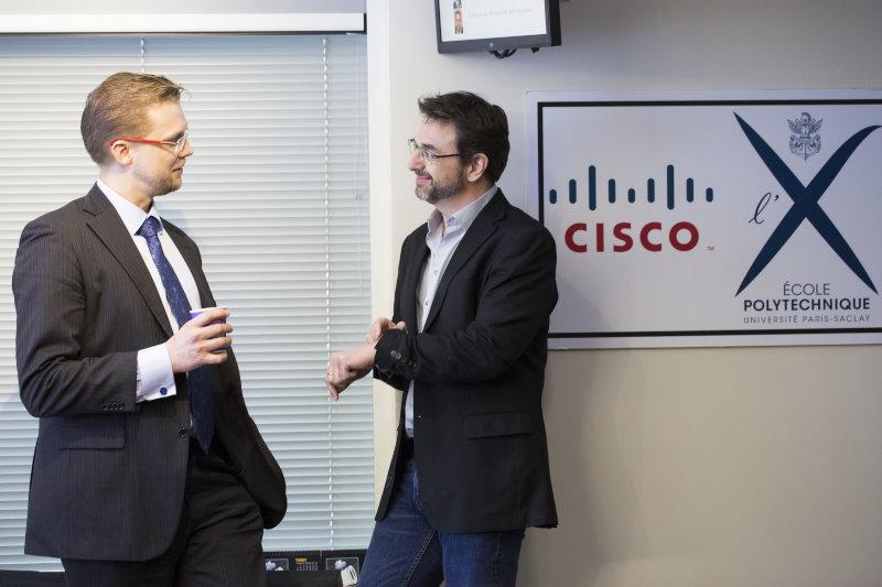 Thomas Clausen (left, Ecole Polytechnique) and Mark Townsley (Cisco and Ecole Polytechnique)