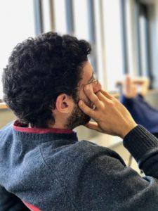 Juan Antonio Cordero Fuertes being thoughtful during the seminar
