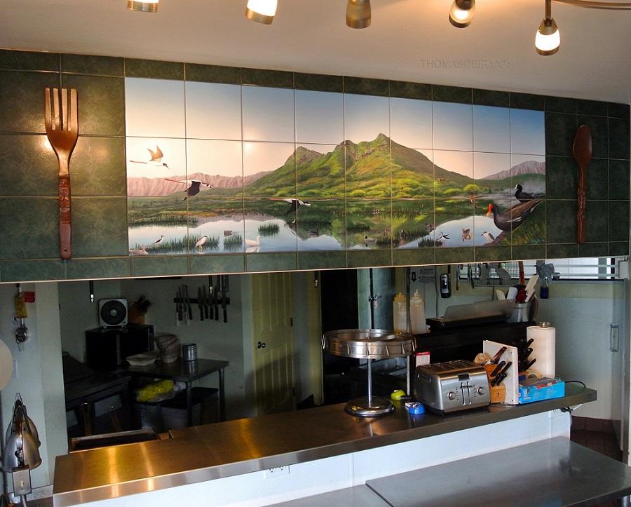 Restaurant Wall Art  Thomas Deir Honolulu HI Artist