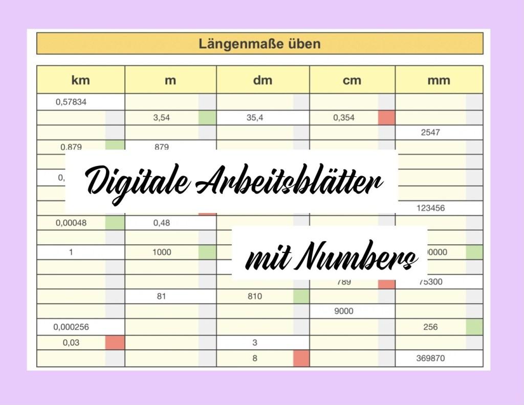 digitale Arbeitsblätter