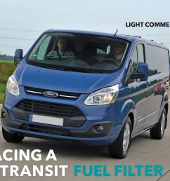parker racor article replacing a ford transit fuel filter [ 2417 x 1492 Pixel ]