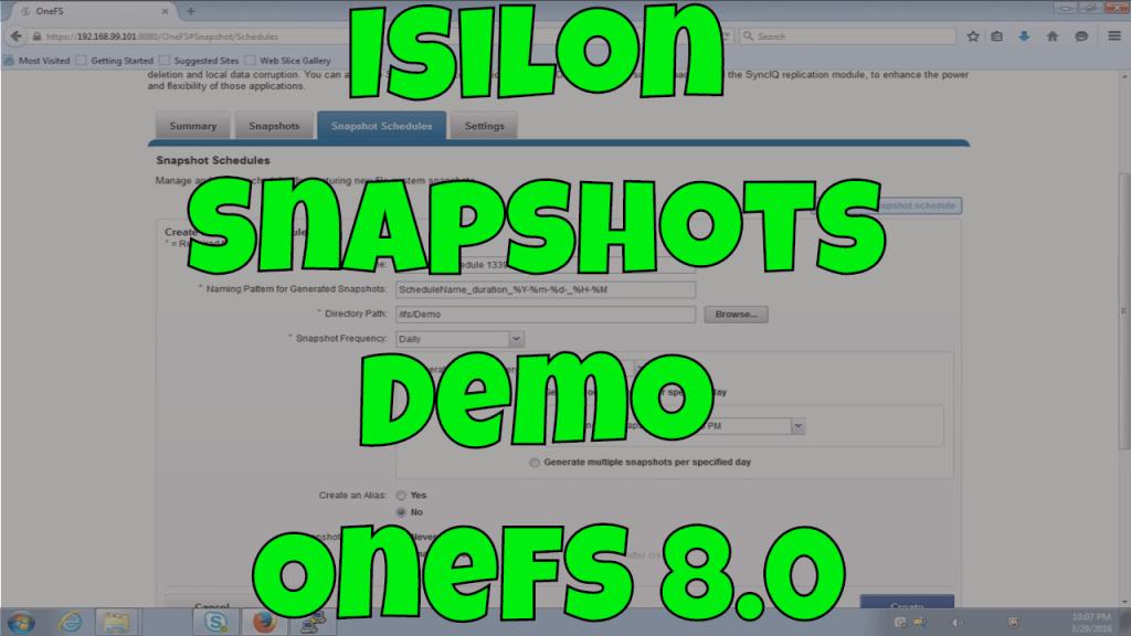 Snapshots in OneFS