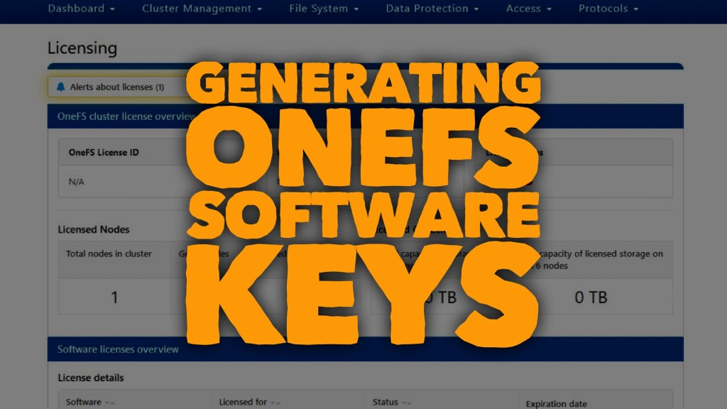 Generating OneFS Software Keys