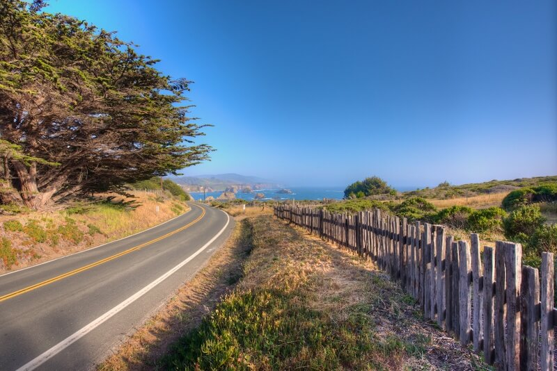 Highway One outside Mendocino Thomas Henthorne