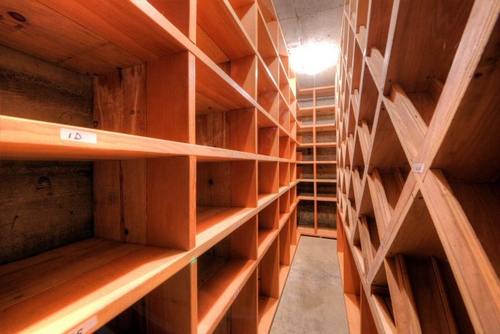 Enormous wine cellar