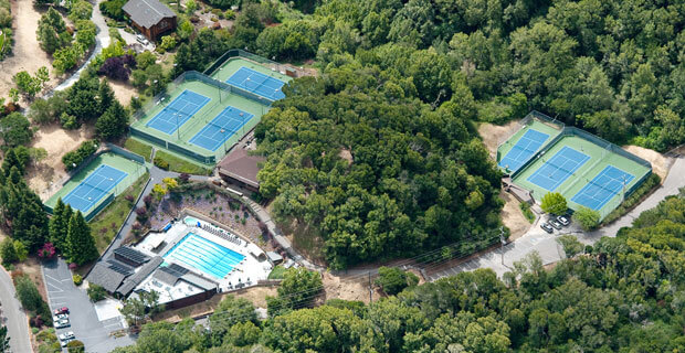 Aerial Photo of the Scott Valley Swimming and Tennis Club