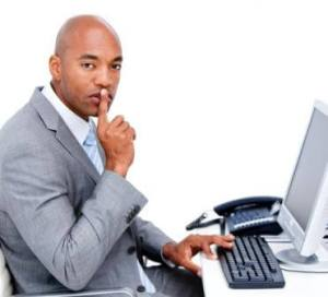 marin pocket listings image man wearing suit whispering at computer with phone