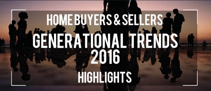 title slide that says 2016 home buyer and seller generational trends 2016