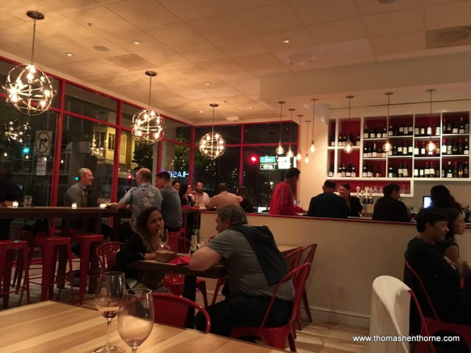 Busy Dining Room of Le Comptoir