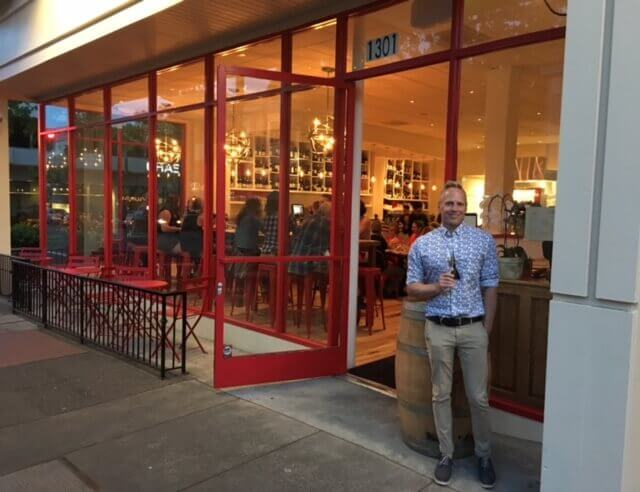 Thomas In Front Of Le Comptoir San Rafael Marin