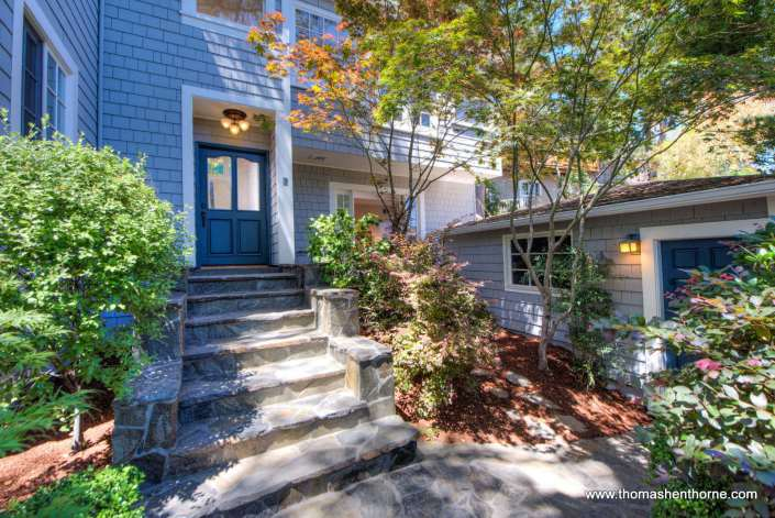 2 Foothill Road San Anselmo front entry steps