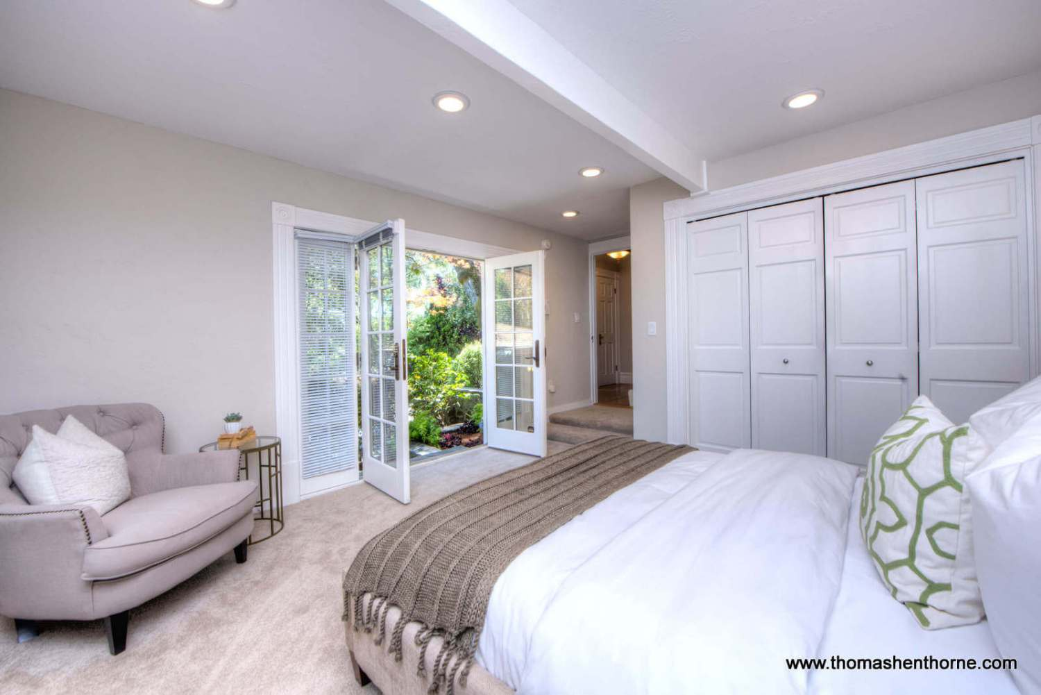 bedroom and french doors