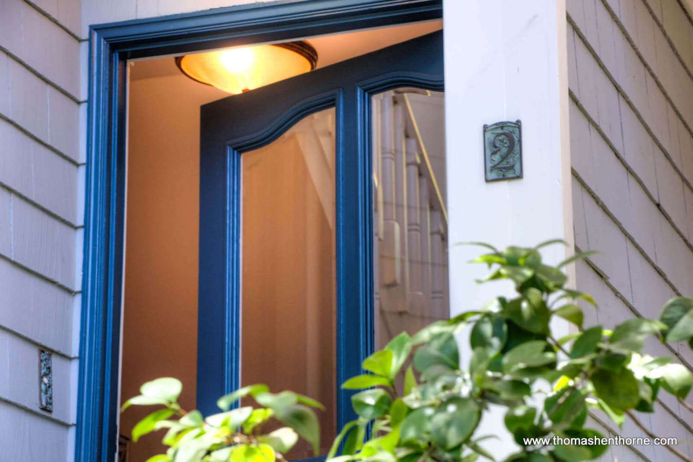 front door ajar