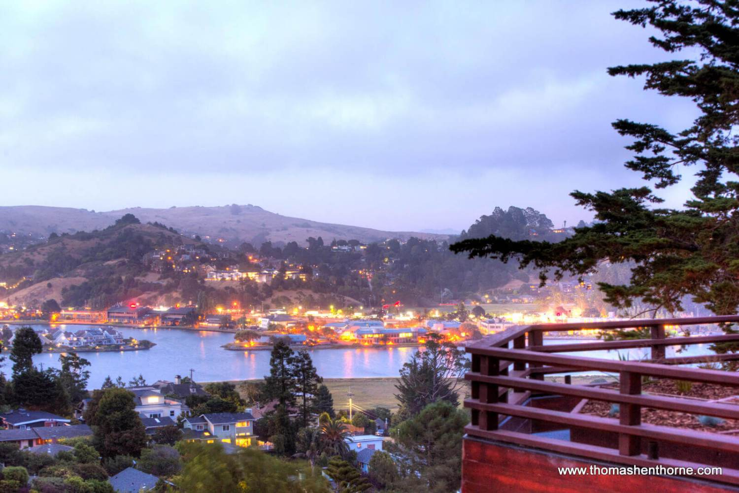 Twilight View of bay from home