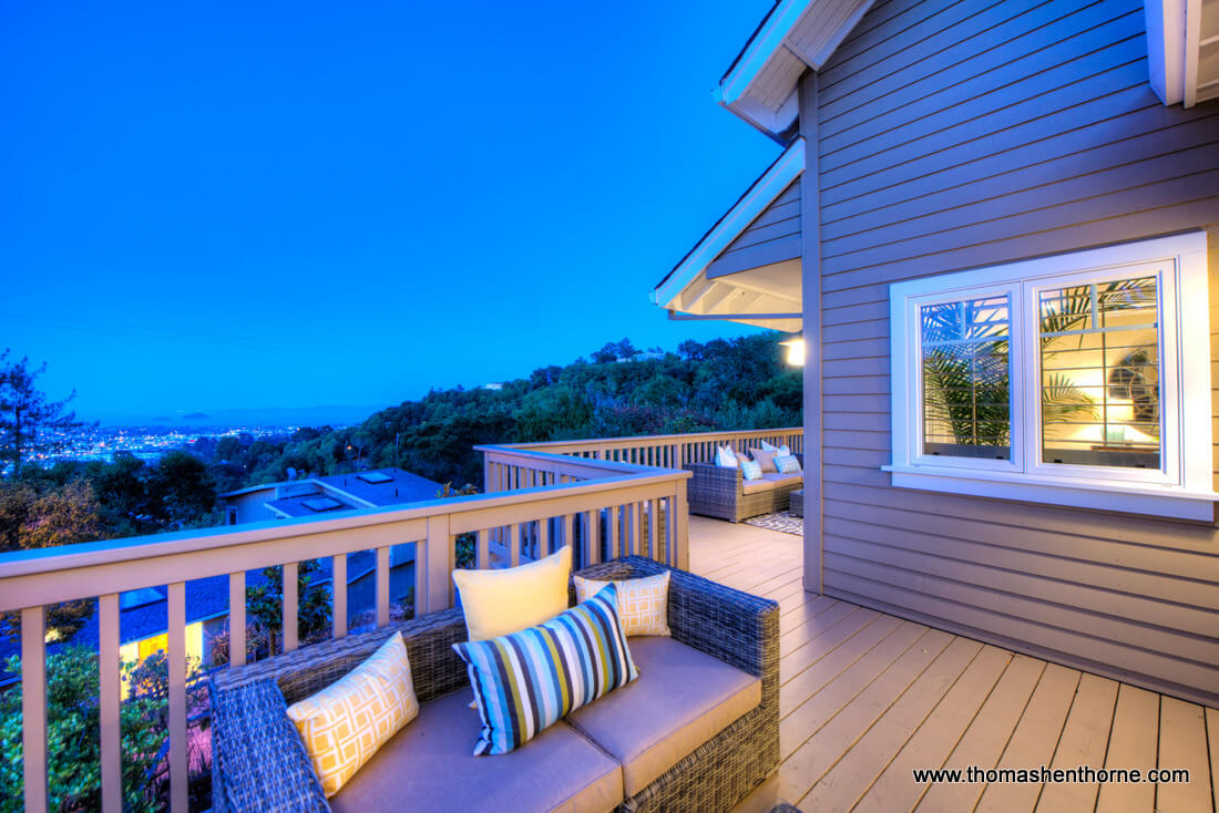 Photo of back deck