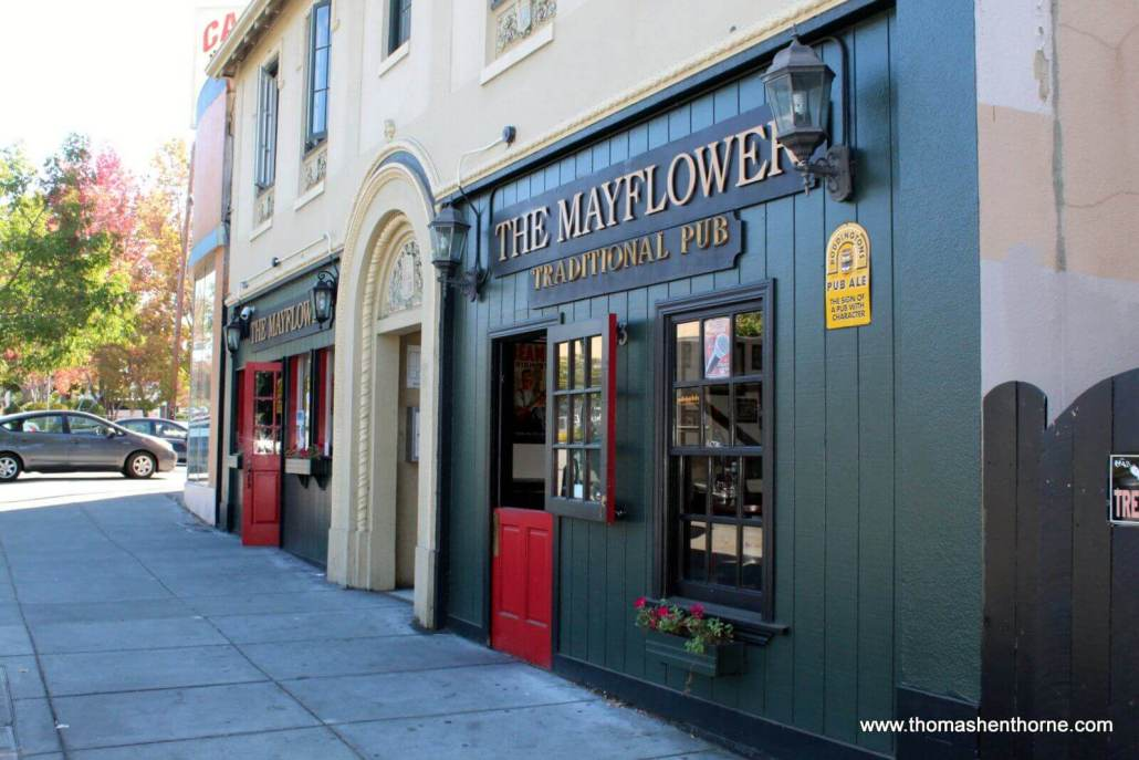 Exterior of The Mayflower Pub in San Rafael, California