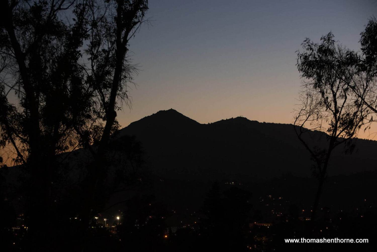View of Mt. Tamalpais at Dusk