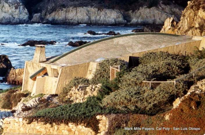 Copper Spine House Demolished in 1995 Ocean in Background