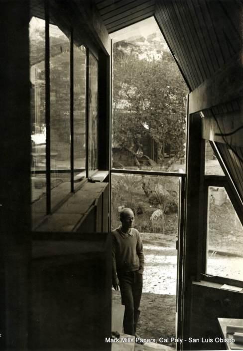 Mark Mills in door of Fairfield Residence