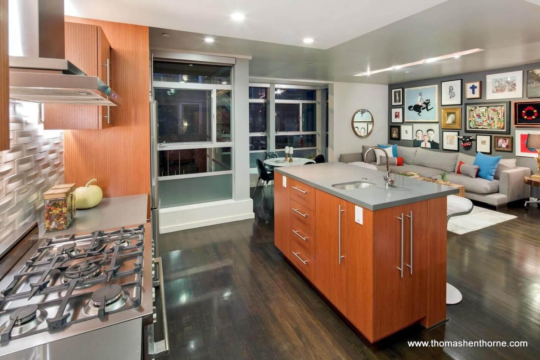 Kitchen at twilight