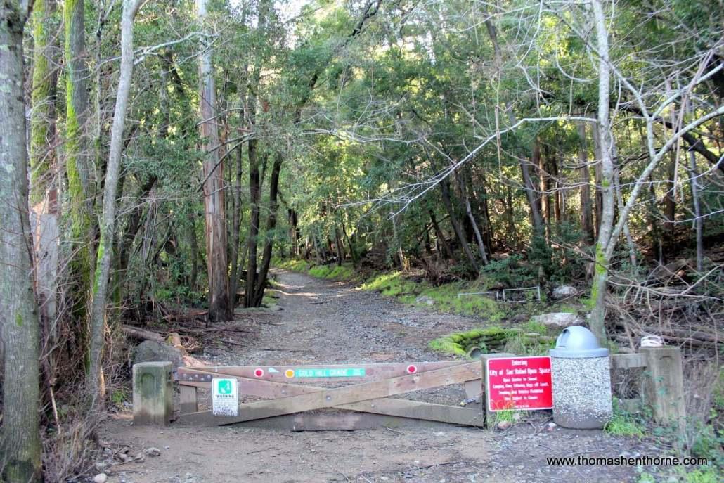 Trailhead at Gold Hill Fire Road Trail