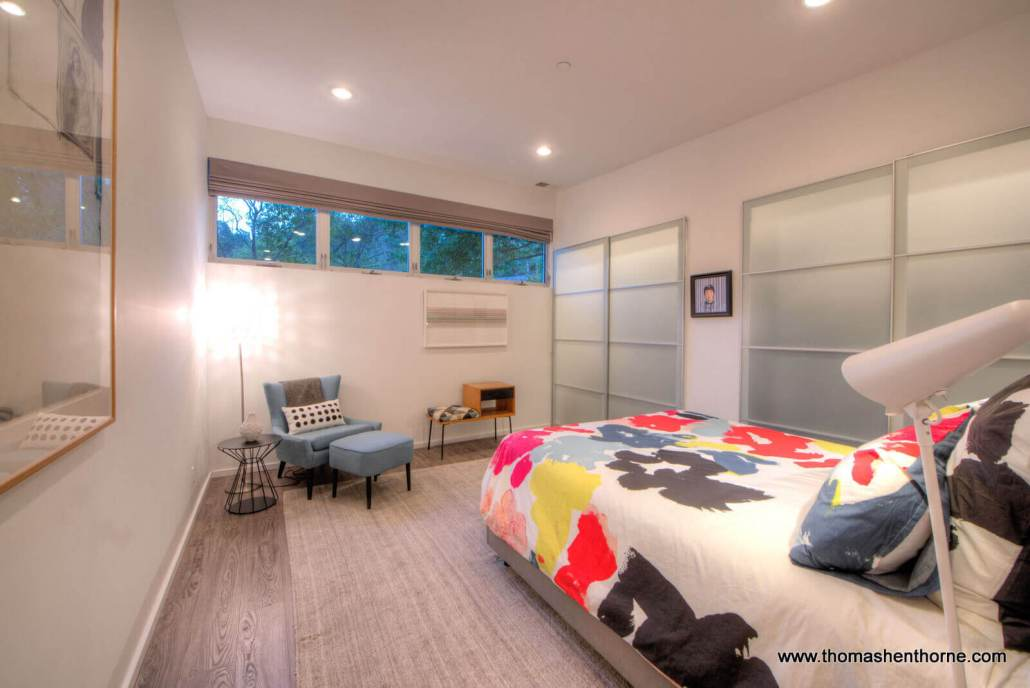 master bedroom with closets