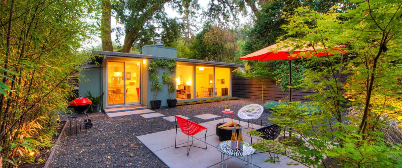 145 Madrone Avenue San Anselmo California backyard with home beyond