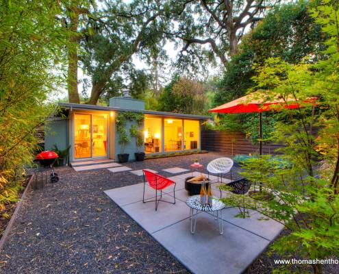145 Madrone Avenue San Anselmo California backyard with home beyond