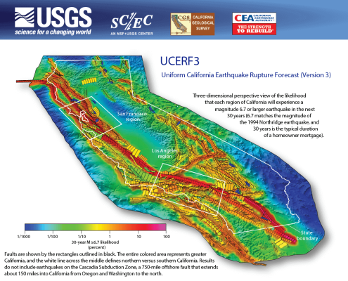 California Earthquake Forecast Map from USGS