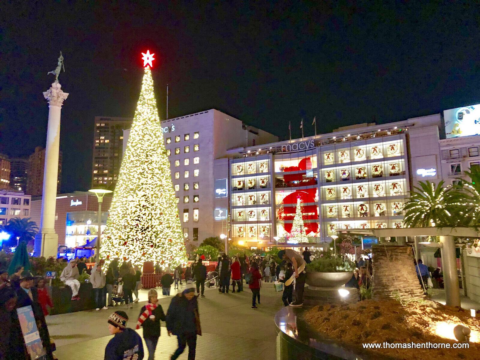 Union Square Christmas Tree San Francisco