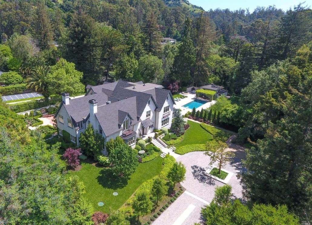 Aerial view of 120 Mountain View Avenue San Rafael