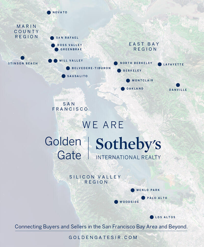 Map of all Golden Gate Sotheby's Locations